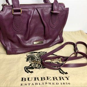 Medium Plum Burberry Hand bag